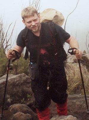 Martin Rotzoll beim Aufstieg.